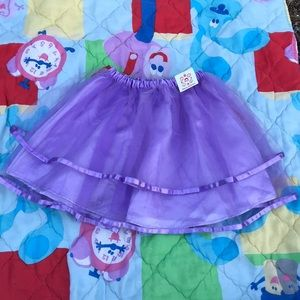 NWT Hanna Andersson 130 Tulle Layer Purple Skirt 8